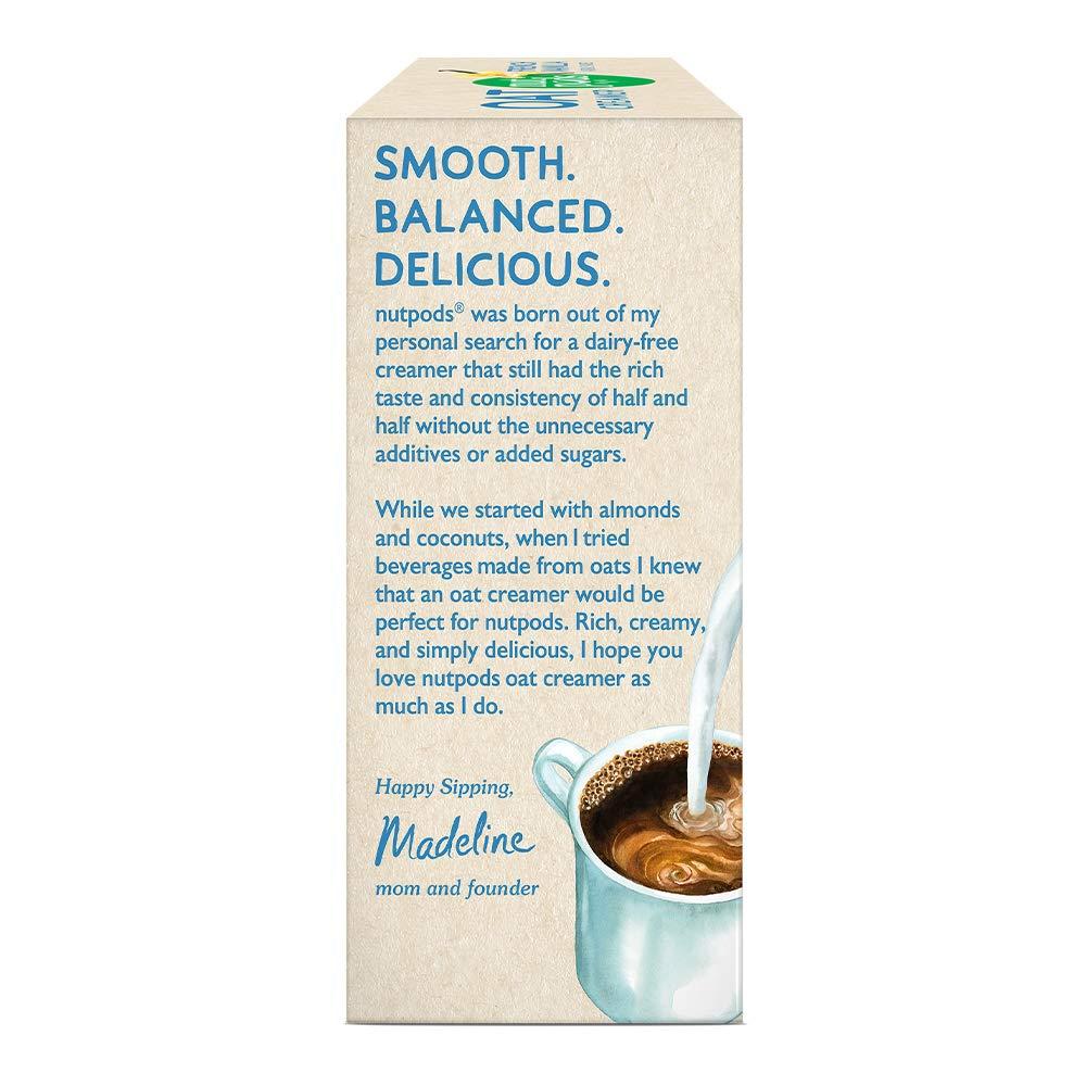 oat coffee vanilla nutpods french creamer diabetics nutrition dairy friendly